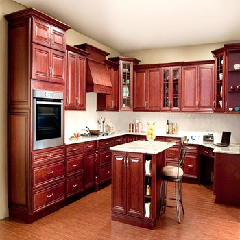 The base price for a 10 x 10 kitchen stained cherry with for Cherry wood kitchen cabinets price
