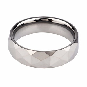 Hot Selling Facet tungsten finger rings mens jewelry