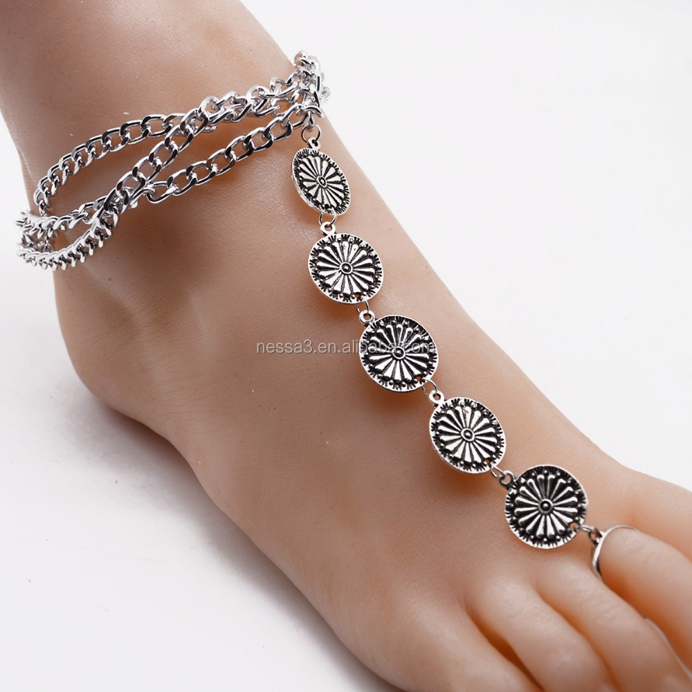 features anklet gold chain for styleskier fashion a bridal locking of color anklets bracelet foot jewelry com shmrgmx women leg