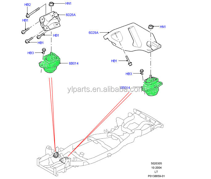 High Quality Kkb500590 Support Engine Mountingfit For Fit For Uk