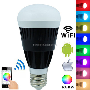 Magic Home Wireless Wifi E27 10w Rgbw Rgbww Led Bulbs Smartphone App Remote  Control Dimmable Bulbs For Ios Android Smartphone - Buy Wifi Led Bulb,10w