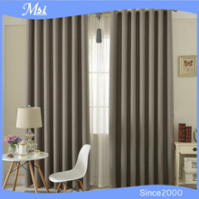 2015 New Arrival 100% Polyester Fabric Grommet Top Hotel Blackout Curtain