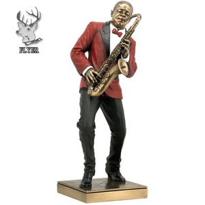 Hotel decoration life size resin Saxophone Player Statue