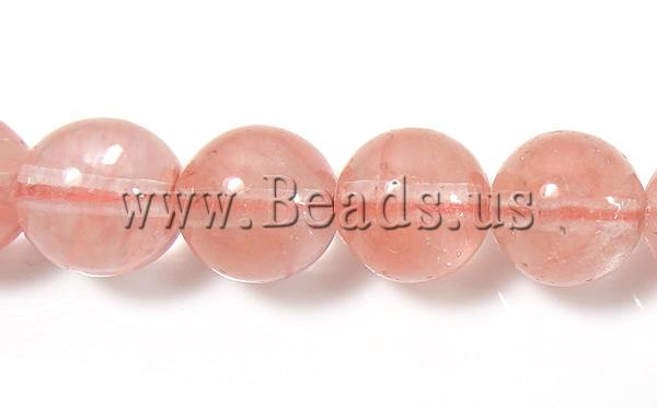 Free shipping!!!Watermelon Glass Beads,Hot Selling, Cherry Quartz, Round, natural, red, 8mm, Hole:Approx 1mm