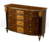 Solid wood home furniture antique design living room chest of drawers