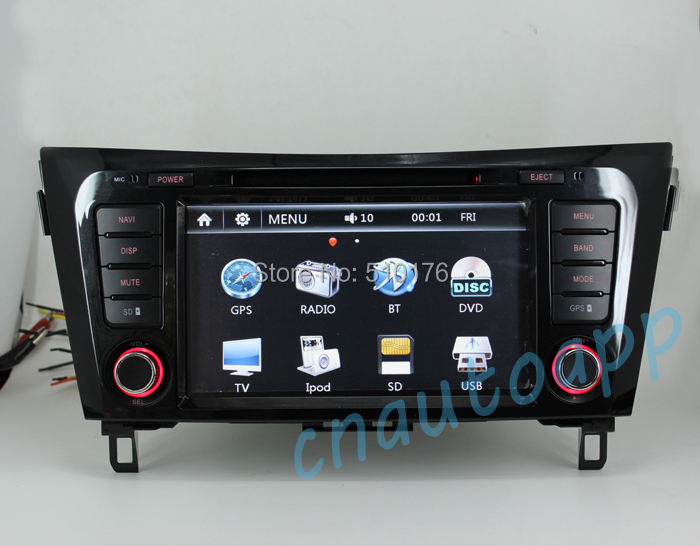 car navigation in dash gps with dvd player radio for nissan qashqai xtrail 2014 in car. Black Bedroom Furniture Sets. Home Design Ideas