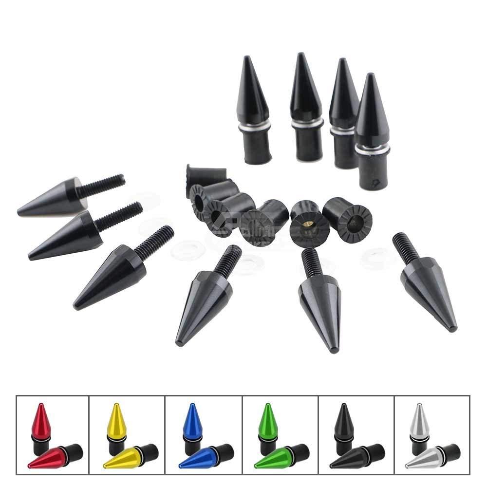 Motorcycle Windshield Windscreen Aluminum Bolt Screw M5 5mm Black Universal 10pc