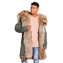 Professional Custom High Quality Fashion Basic Fishtail Parka with Real Fur Hood Winter Mens Parka