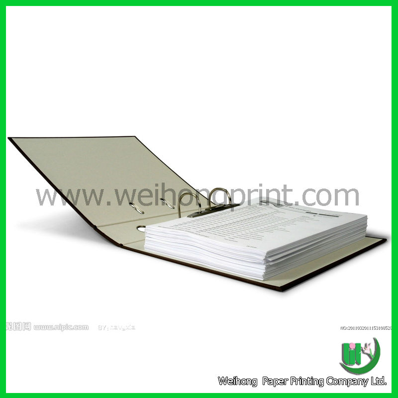 A4 size ring binding file folders made in china