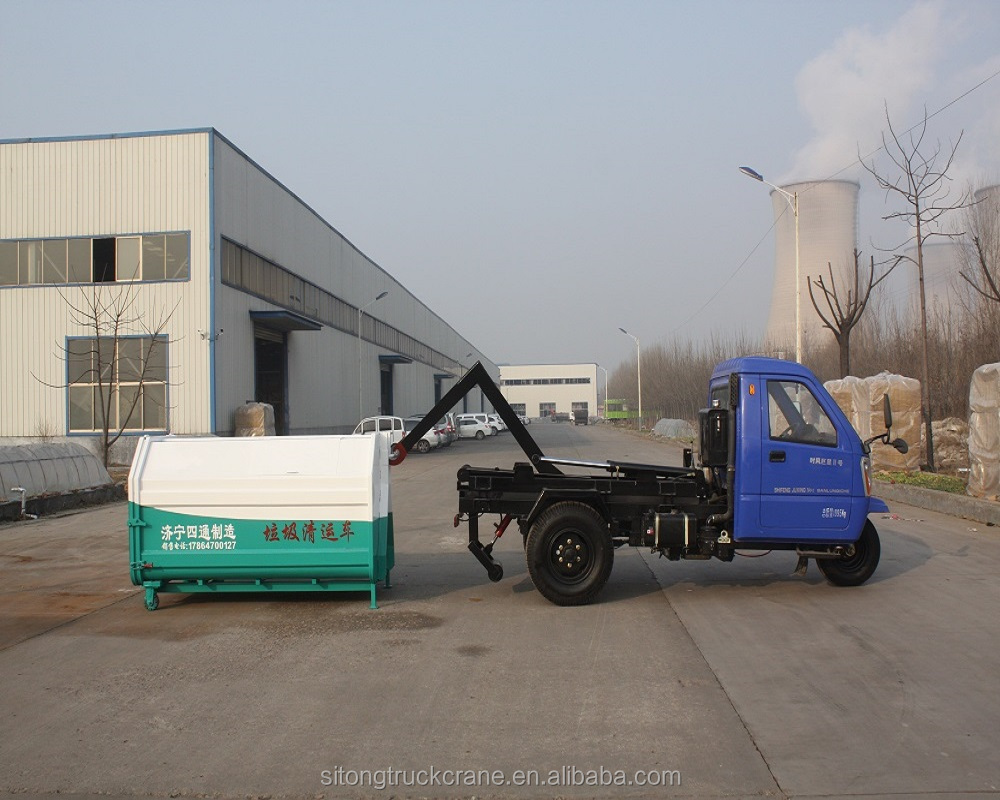 3.5 cube sanitation vehicle equipment Dump garbage truck with tipper body