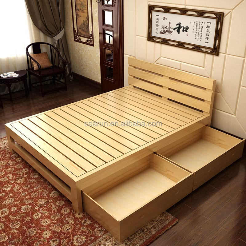 Wooden box bed designs pictures - Lit queen size dimension ...
