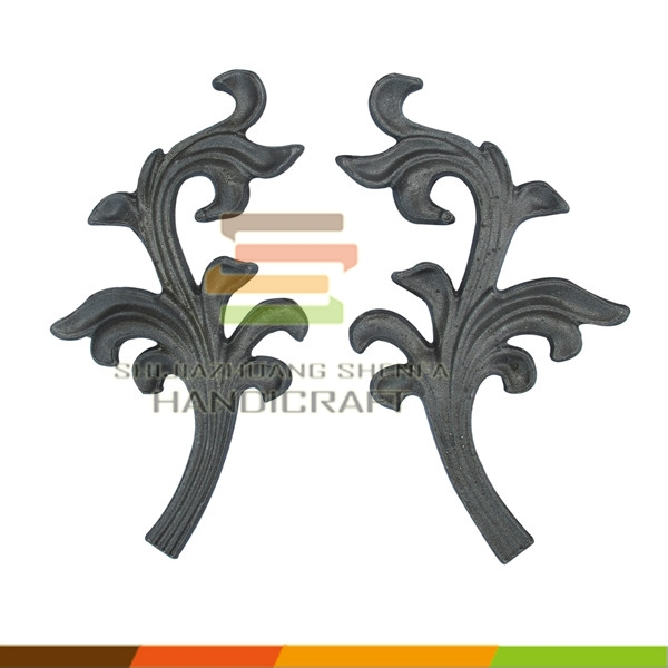 Cast and forged steel wrought iron ornaments