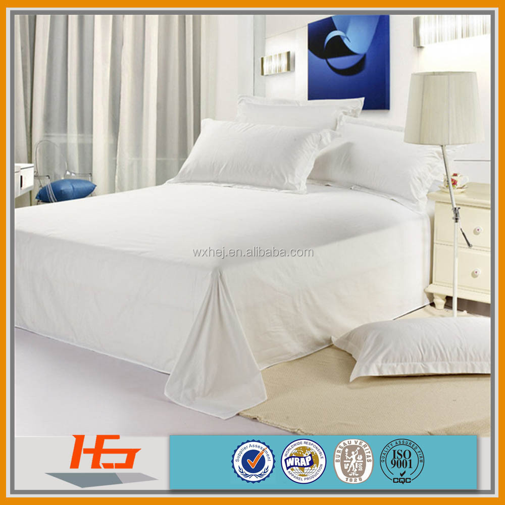 star hotel use smooth silky 100% cotton sateen bed sheets