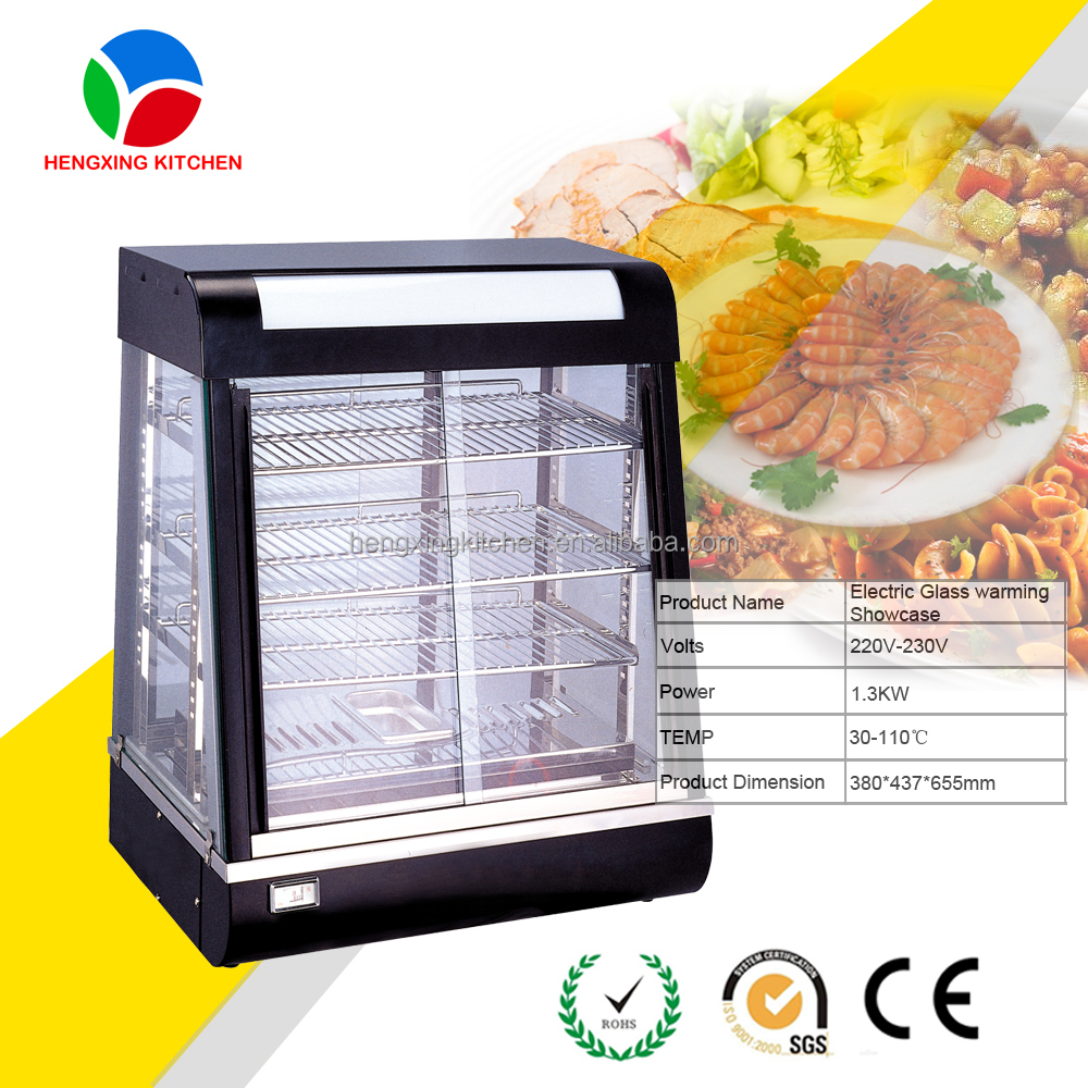 Hot Sale Stainless Steel countertop glass warmer/ hot food display cabinet/ bread showcase/ bakery equipment