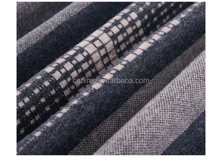 New fashion young style plaid and striped woolen warm scarves