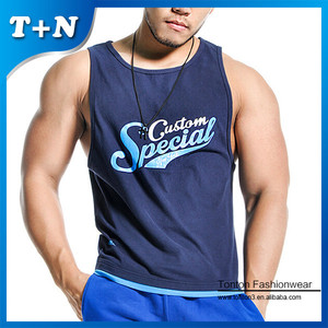 Custom stringer vest tank top man gym , Blank mens wholesale wear singlet
