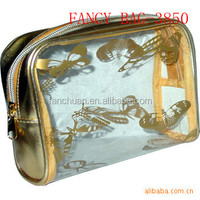 Fashion Custom PVC Clear cosmetic case cheap wholesale