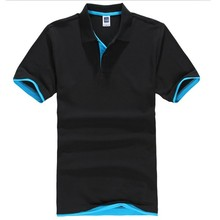 2016 Hot Men Polyester & Cotton Shirt Custom Men's Polo Shirt 180gsm Promotional T-shirt