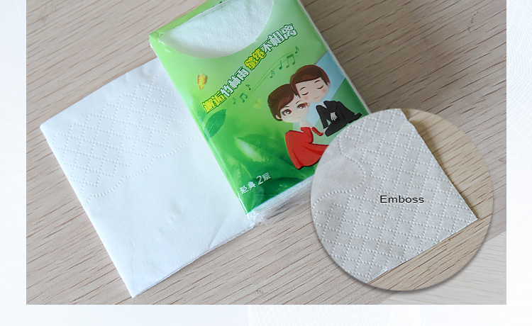Customized mini pocket facial tissue paper/2ply printing mini pocket tissue/21*21cm mini tissue manufacturer in China
