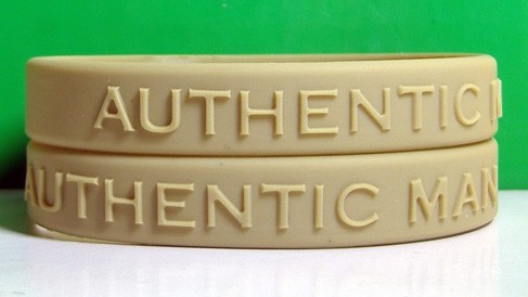 Custom 12mm solid color embossed Silicone Wristbands
