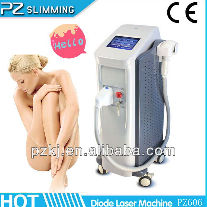 like Alexandrite laser used for all kinds of hair ! 808nm medical diode laser hair removal equipment PZ606 by PZ LASER