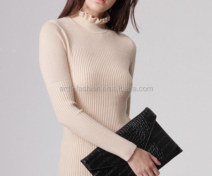guter Verkauf neuer & gebrauchter designer damen Neuesten Viskose Gerippt Eng Anliegende Pullover Für Frauen - Buy ...