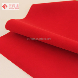 factory hot sales adhesive glue velvet flock fabric for packaging box material Of New Structure