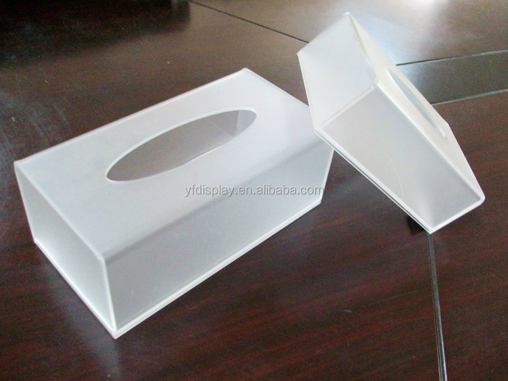 high quality acrylic small box facial tissue box