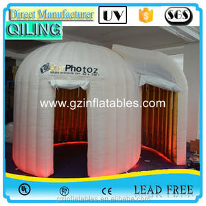 2016 QiLing cheap rental dome white inflatable photo booth tent prices for sale photo booth
