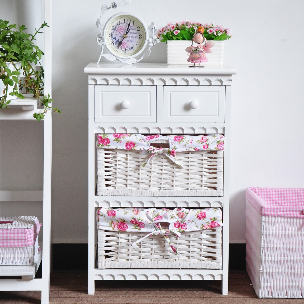 Shabby chic land stijl wit houten kabinet voor slaapkamer kamer ...