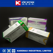 silk suture/thread with reverse cutting needle CE ISO FDA