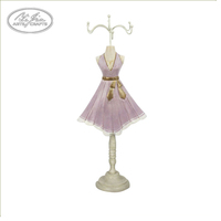Home decor pink dress girl jewelry display stand