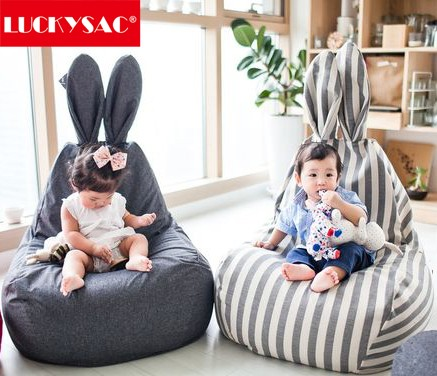 LUCKYSAC New Premium Rabbit Shape Kids Bean Bag Chair Child Toy For Sale