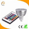 16 colors changing rgb led spot 12v mr16 3W with remote control