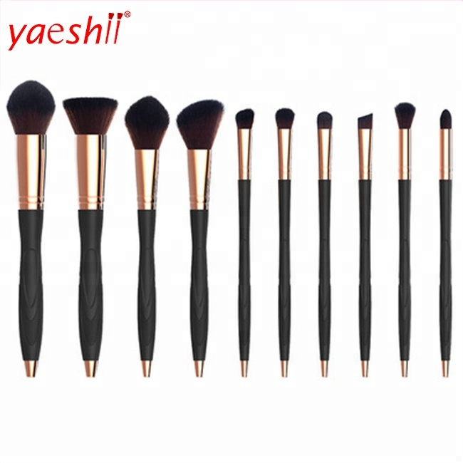 Yaeshii Multi-Function Cosmetic Private Label Foundation Make Up <strong>Brushes</strong> 10 Pcs Custom Logo Microphone Beauty Makeup <strong>Brush</strong> Set