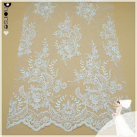 Cheap embroidery lace fabric dubai,bridal french lace fabric,wedding dress lace suppliers DHBF440