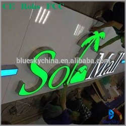 Outdoor wall  3d word business channel letter signs logo led resin alphabet letter sign Metal Frame LED Letters for store logo
