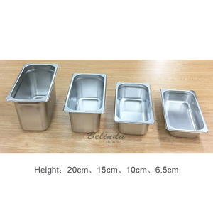 Dishwasher Safe Stainless Steel GN Pan Ice Cream Container Buffet Food Steam Gastronorm Pan