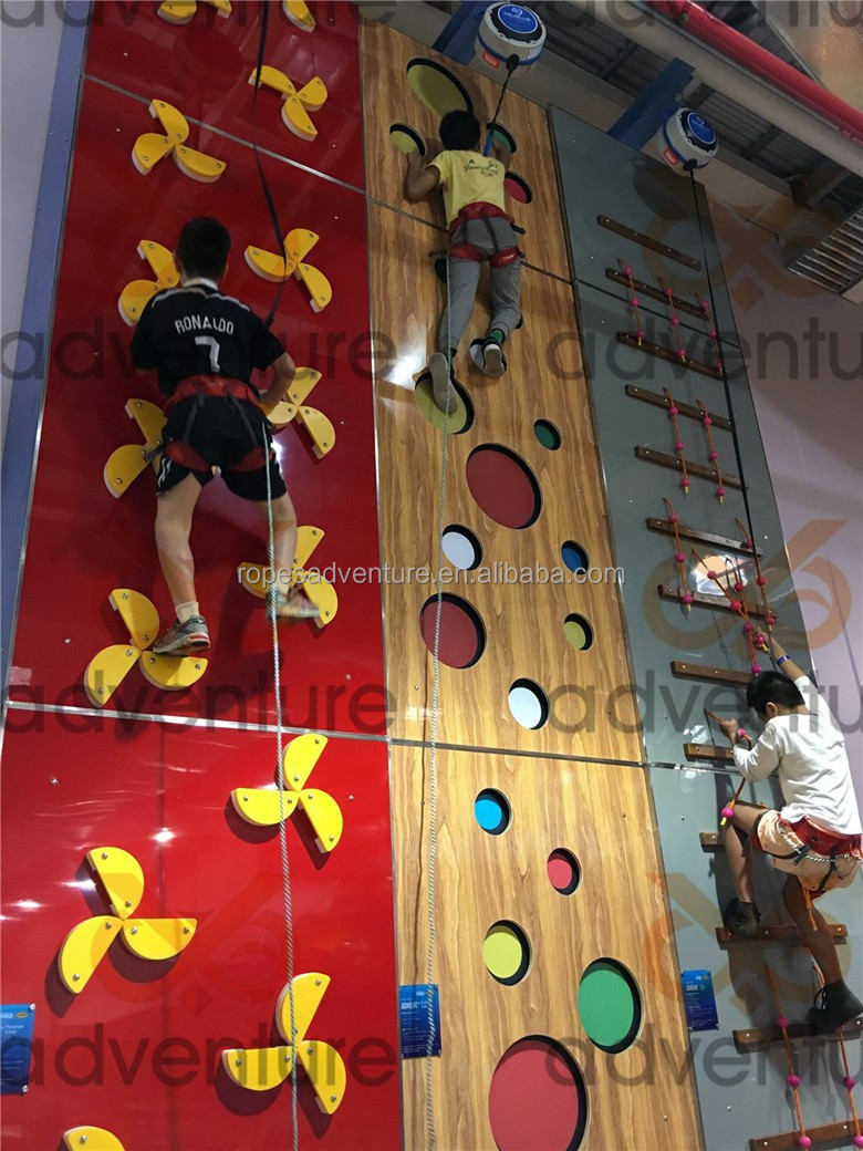 climbing wall with auto belay system,mobile climbing wall,climbing holds