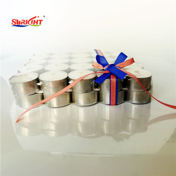 Gift Ribbon Silk Decorative Pure White European Tealight Candle 6 Hour
