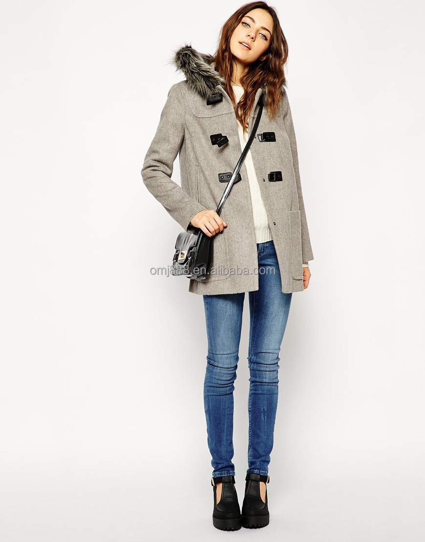 Premium Duffle Coat With Faux Fur Hood China Products - Buy Three ...