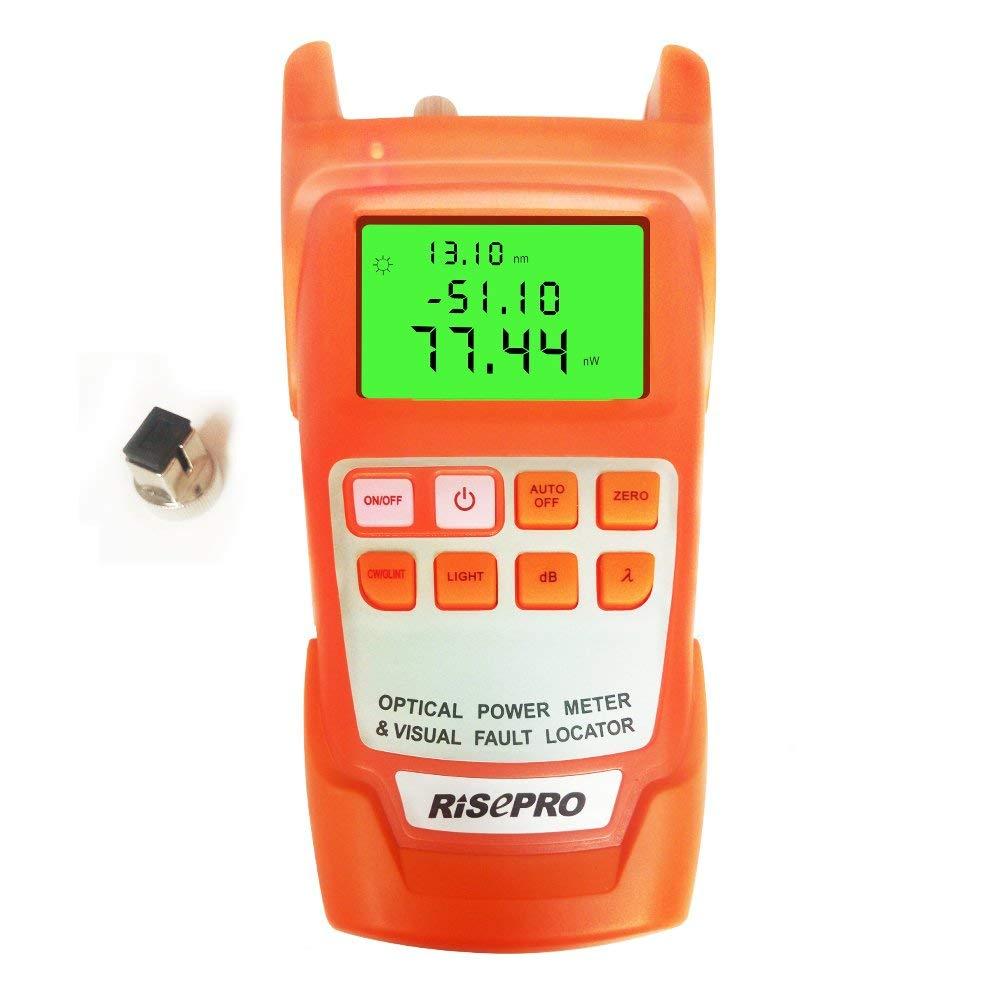 Fiber Optical Power Meter, RISEPRO -70~+10dBm 10mw Portable Optic Fiber Power Tester with Sc and Fc Connector (AUA11-O2)