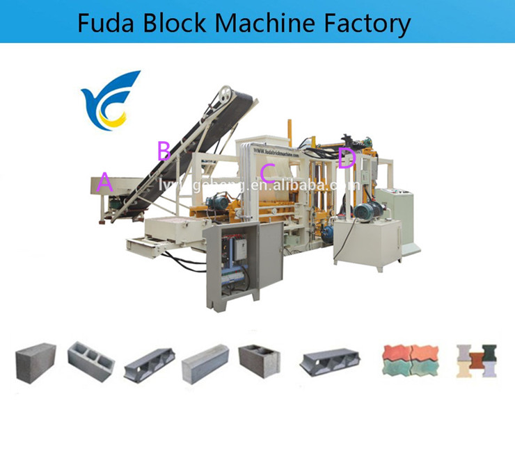 Qt4 18 Full Automatic Hydraulic System Brick Making