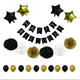 DMTX004 Gold&Black Theme Happy Birthday Party Decoration Set Favor Party Decoration