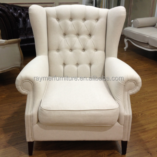 Living room high back tufted fabric armchair wing chair - Living Room High Back Tufted Fabric Armchair Wing Chair - Buy