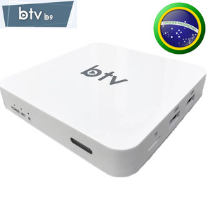 BTV B9 TOP BRAZILIAN TV BOX 4K Ultra HD Smart TV BOX Streaming Media Android Brazil top iptv box