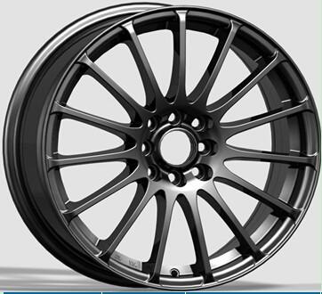 aluminium alloy wheels 5 spoke after market fashion design 15 inch black wheels mchined face. Black Bedroom Furniture Sets. Home Design Ideas
