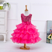 Baby Clothes European Flower Girls Latest Dress Model Designs Party Dress For Baby Girl LYD001
