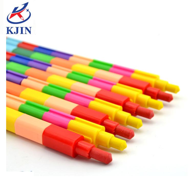 ขี้ผึ้งวาดเขียนมืออาชีพ12ชิ้น,ดินสอสีแบบเรียงซ้อนกันขนาดเล็กสีสันสดใสดินสอสีเทียนแบบทำตามสั่งสำหรับศิลปิน
