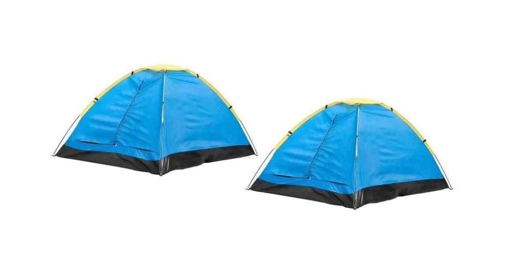 Happy Camper 2-Person Dome Tent, Compact And Lightweight Great For Music Festivals, Hiking and Camping (Pack of 2)